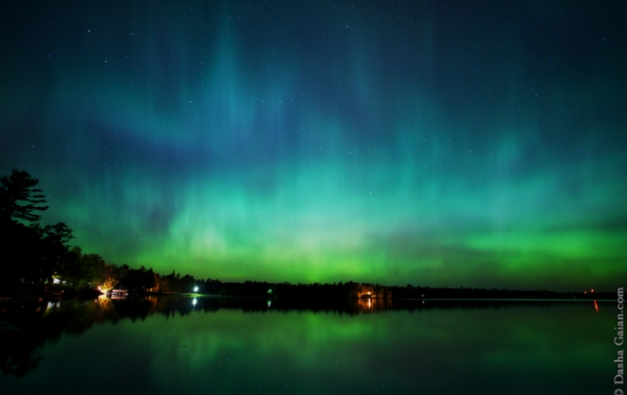 Northern Lights over the Lake